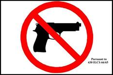 Concealed Carry Signage Approved by the Illinois State Police
