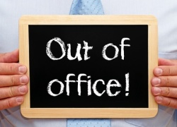 out of office sign