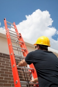 construction worker-ladder