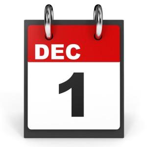 63527433 - december 1. calendar on white background. 3d illustration.