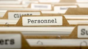 38340529 - personnel word on folder register of card index. selective focus.