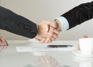 handshake over contract
