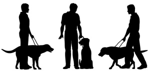 guide dog silhouettes